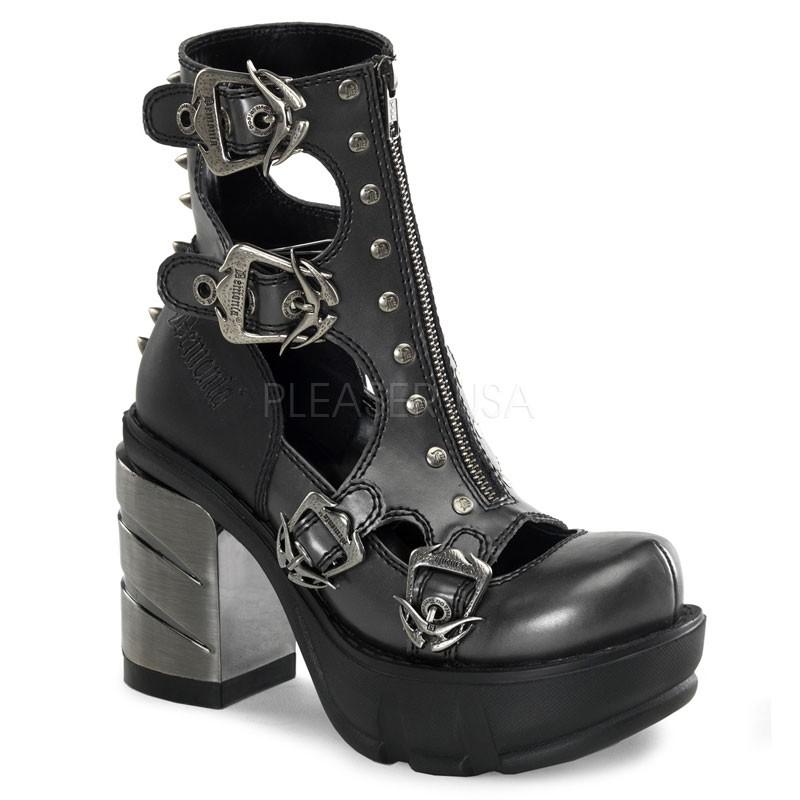 Demonia Sinister-61 - Gothic Industrial Metall High Heels Schuhe 36-43
