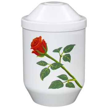 Bio-Tec³-Urne ROSE weiß: 282 mm, ø = 190 mm 001