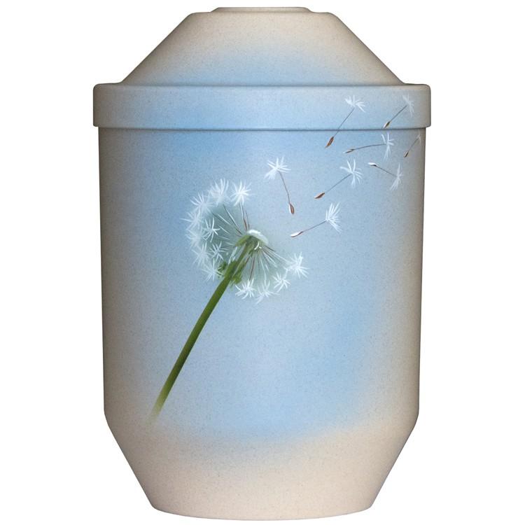 Bio-Tec³-Urne PUSTEBLUME natur: 282 mm, ø = 190 mm