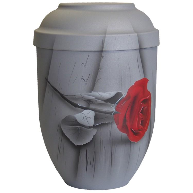 Bio-Tec³-Urne ROSE DER ERINNERUNG samtgrau: 280 mm, ø = 185 mm