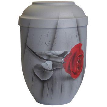 Bio-Tec³-Urne ROSE DER ERINNERUNG samtgrau: 280 mm, ø = 185 mm 001