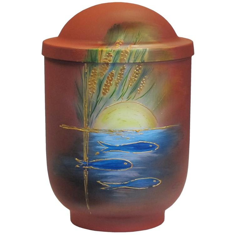Designer-Urne FISCHE mit Kuppeldeckel: 290 mm, ø = 195 mm