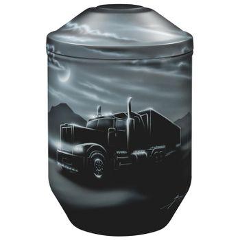 Designer-Urne Black Edition TRUCK - LKW-Urne: 266 mm, ø = 183 mm 001