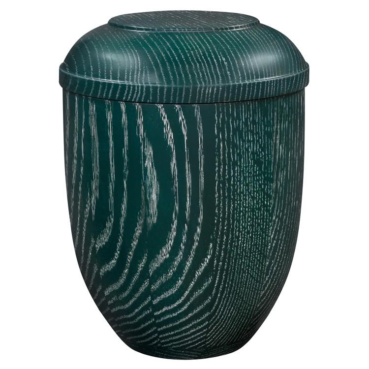Holz-Urne Eiche grün gekalkt: 292 mm, ø = 218 mm