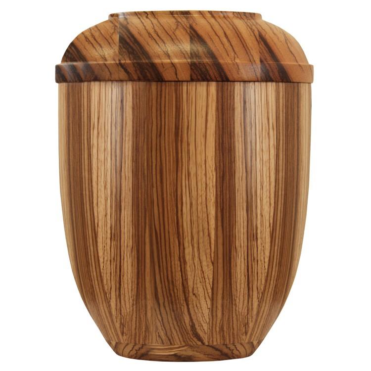 Holz-Urne Zebrano gedrechselt: 292 mm, ø = 218 mm