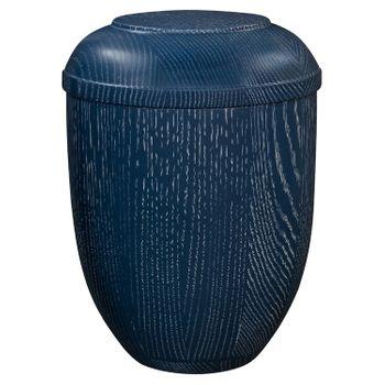 Holz-Urne Eiche blau gekalkt: 292 mm, ø = 218 mm 001