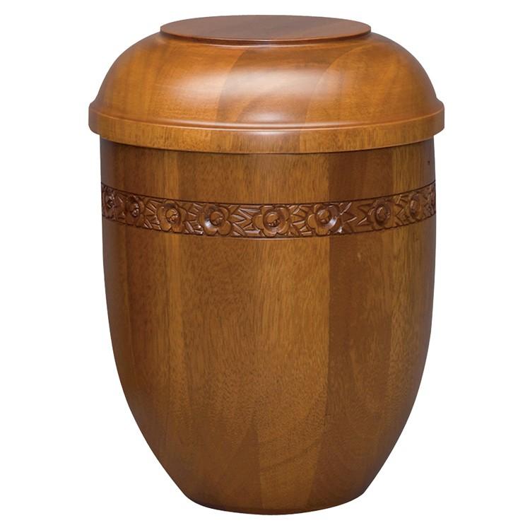 Holz-Urne Mahagoni matt: 292 mm, ø = 218 mm