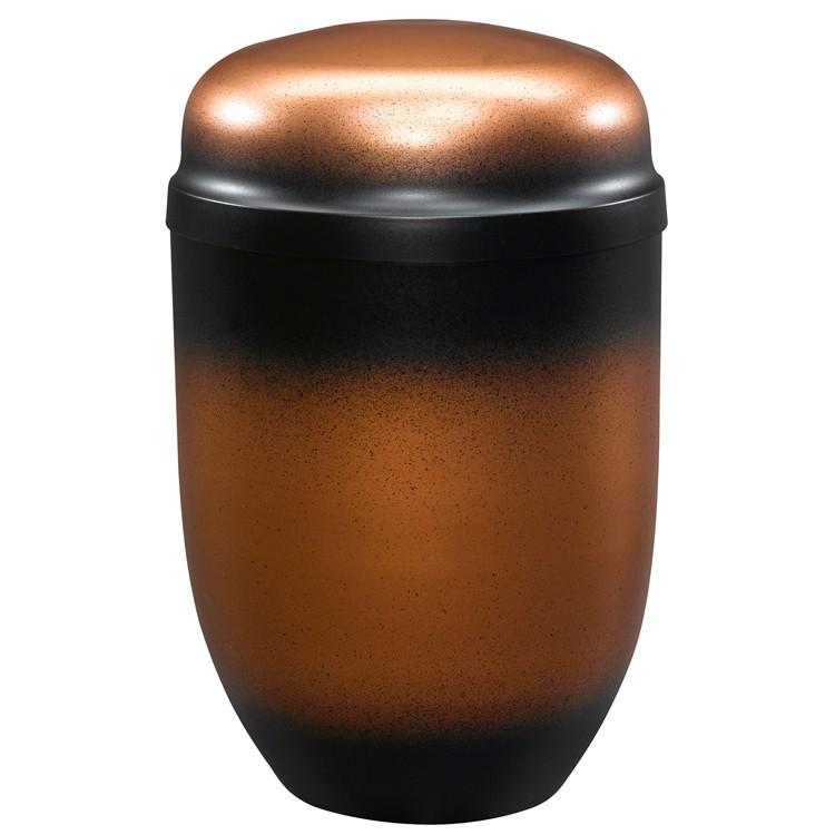 Edelplatal-Urne aus Stahl altkupfer farbig 276 mm, ø = 182 mm