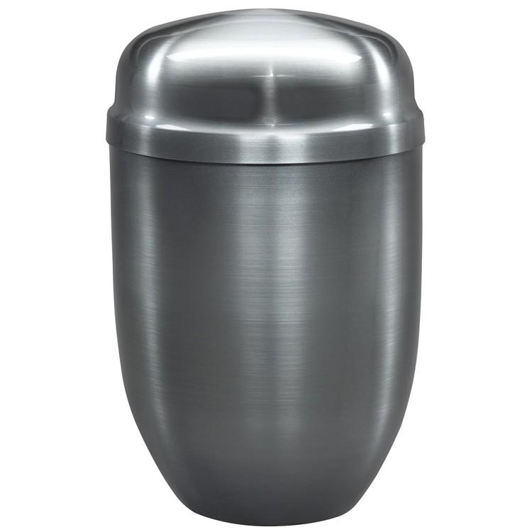 Edelplatal-Urne aus Stahl : 276 mm, ø = 182 mm