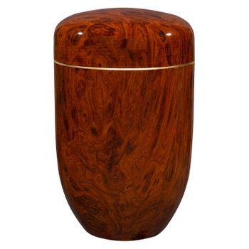 Edelplatal-Urne aus Stahl Wurzelholz beschichtet: 279 mm, ø = 181 mm 001