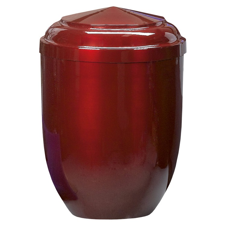 Edelplatal-Urne aus Stahl bordeaux: 262 mm, ø = 183 mm