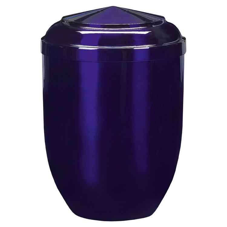 Edelplatal-Urne aus Stahl blau: 262 mm, ø = 183 mm