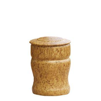 MEMORY-HOLZURNE Eiche gedrechselt mit marmorierter Obfl., Ø 50 mm, H: 100 mm, V=150 ml 001
