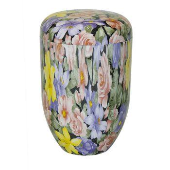 Bio-Tec³-Urne Blumenmuster beschichtet: 290 mm, ø = 180 mm