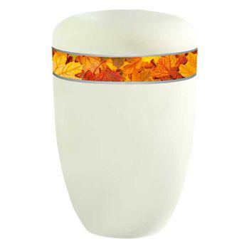 Creativ-Urne HERBSTLAUB cremeweiß matt: 285 mm, ø = 180 mm