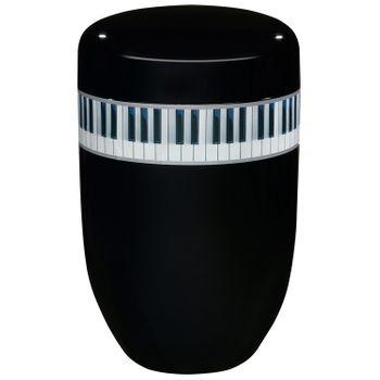 Creativ-Urne KLAVIER schwarz: 279 mm, ø = 181 mm