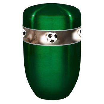 Creativ-Urne FUSSBALL grün lasierend: 279 mm, ø = 181 mm