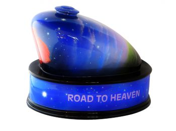 Schipper's Biker-Urne Airbrush Road to heaven rose