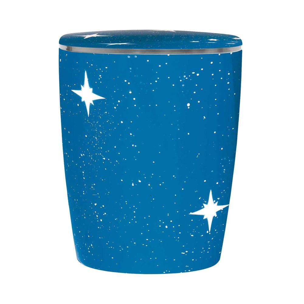 Bio Urne Solide Line Sterne - Himmel Blau