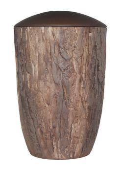 Keramik-Urne BAUMSTAMMOPTIK braun