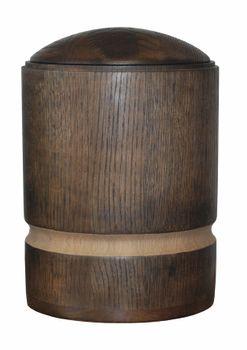 Holz-Urne aus Eiche, silber gewachst