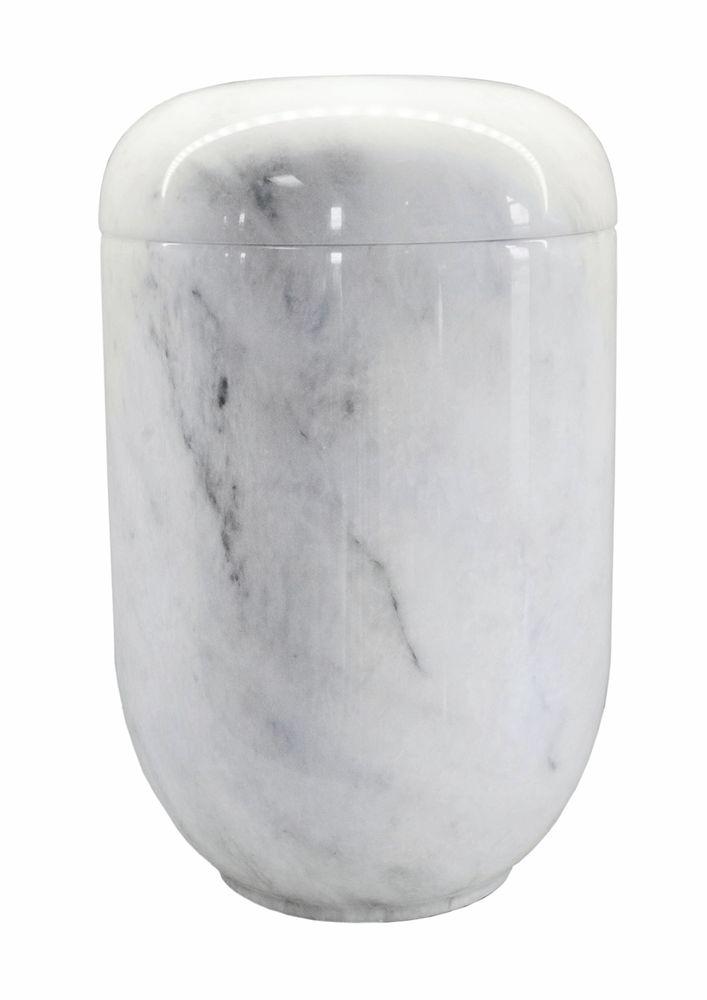 "Marmor Urne Creativ ""ziyrat weiß"""