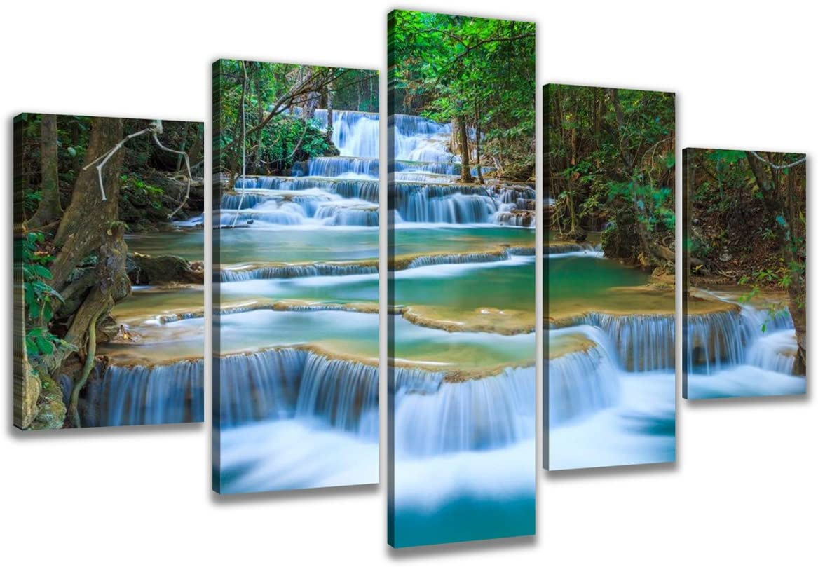Wasserfall Dschungel 200x100 cm