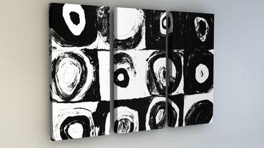 """""""Inspired by Kandinsky"""" Quadrate schwarz-weiss – Bild 1"""
