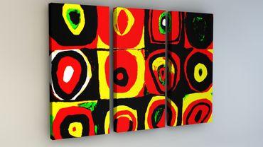 """Inspired by Kandinsky"" Quadrate Pop Art – Bild 2"