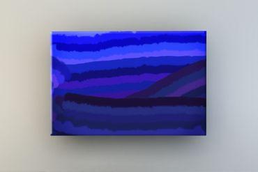 Streifen blau-lila – Bild 1