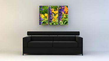 Biene und lila Blumen – Bild 3