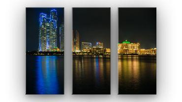 Abu Dhabi Skyline bei Nacht – Bild 1