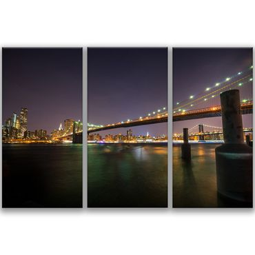 Brooklyn Bridge nachts – Bild 1