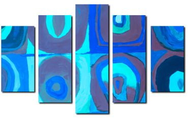 """Inspired by Kandinsky"" Blue – Bild 5"