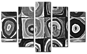 """Inspired by Kandinsky"" black and white – Bild 1"