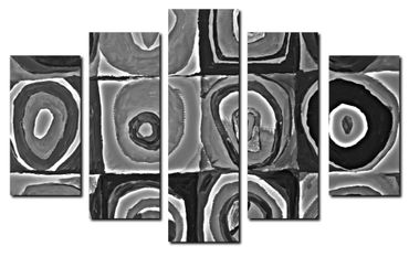 """Inspired by Kandinsky"" black and white – Bild 2"