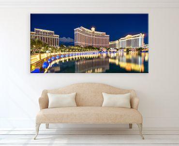 Las Vegas Bellagio und Cesars Palace bei Nacht 3 – Bild 2