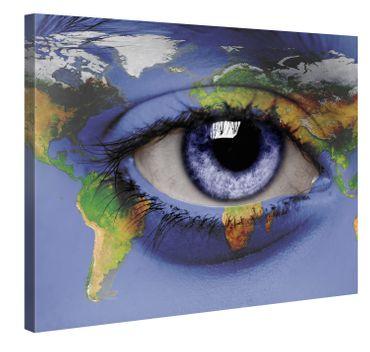 Auge und Weltkarte 2