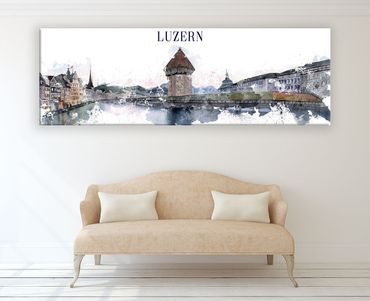 Luzern Watercolor Design 2 – Bild 2