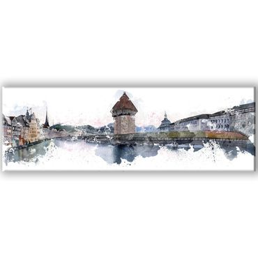 Luzern Watercolor Design 3 – Bild 1