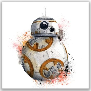 BB8 Star Wars Watercolor Design – Bild 1