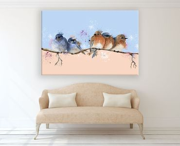 Birds Watercolor Design 2 – Bild 2