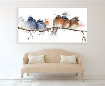 Birds Watercolor Design 4 – Bild 2