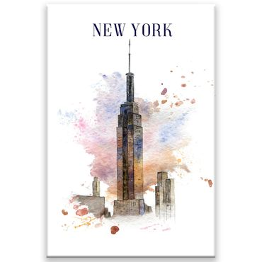 New York Watercolor Design 1 – Bild 1