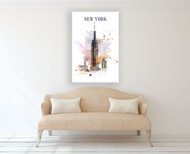 New York Watercolor Design 1 – Bild 2