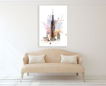 New York Watercolor Design 3 – Bild 2