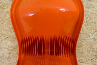 Panton Chair Herman Miller orange – Bild 9