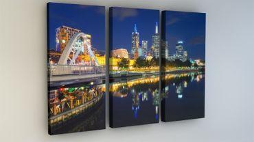 Melbourne Skyline Fluss Australien – Bild 2