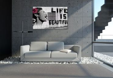 "Banksy graffiti ""Life is beautiful"" - 3004166 – Bild 2"