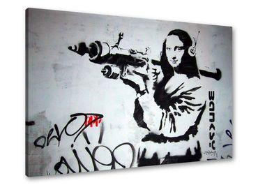 Banksy Graffiti Mona Lisa avec bazooka - 3004172 – Bild 1